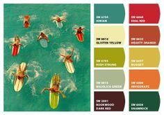 apartment therapy -  retro color palette