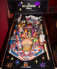 The Big Lebowski pinball machine!   SO AWESOME