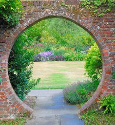 Entry into a garden, maybe