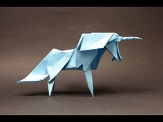 #16 Origami Unicorn by Roman Diaz (part 1 of 2) (remake) - Yakomoga Origami tutorial - YouTube