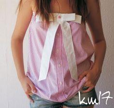 Idee'tje   repurposed men's shirt - cute!