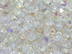Crystal Lemon Rainbow Czech Fire Polished Glass True2™ Beads 2mm L69//4