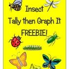 This is a great little math activity to go with your insect unit.  Kiddos work independently or with a partner to count the insects.  They use tall...