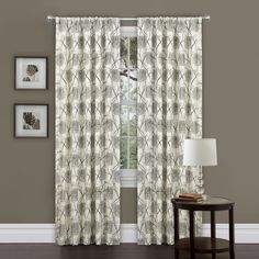 Oxford Rod Pocket Single Curtain Panel