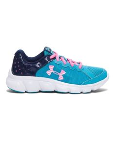 Under Armour Girls Assert 6 Running Shoes 3 Youth 3Y UA Preschool Aqua Pink Navy #UnderArmour #Athletic