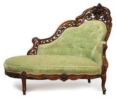 Mom look for this on pinterest rococo victorian for Small fainting couch