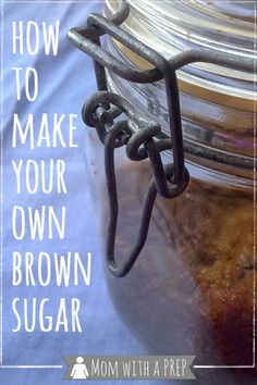 Did you run out of brown sugar just before you needed it? Don't worry - make your own!