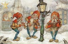 Anton Pieck & Efteling Anton Franciscus Pieck [April a Dutch painter, artist and graphic artist. His works are noted for their nostalgic or fairy tale-like character and are widely popular, appearing regularly on cards and calendars. Anton Pieck, Kobold, Fairytale Art, Dutch Painters, 3d Prints, Dutch Artists, Christmas Art, Gnomes, Illustrators