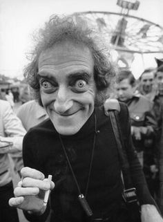 "Marty Feldman, ""The pen is mightier than the sword, and considerably easier to write with."" This man is a legend, playing Igor in the Mel Brooks movie ""Young Frankenstein. Marty Feldman, Young Frankenstein, Cinema Tv, Interesting Faces, Famous Faces, Funny People, Belle Photo, Old Hollywood, Comedians"