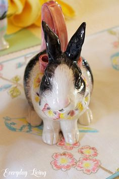 beautiful.quenalbertini: Lovely bunny figure | Everyday Living