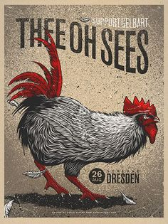 Thee Oh Sees gig posterCarlo Vivary
