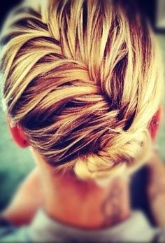 Braided updos show off your sun-kissed blonde highlights.