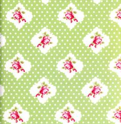 Tanya Whelan Darla 'Rosie Dot' Green for by SouthernSeamsFabrics, $7.50