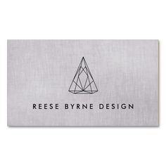 Geometric 3D Triangle Logo Chic Modern Designer Pack Of Standard Business Cards - great business card for interior designers, architects or jewelry designers.