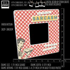 photo frame - retro sassy (kitchen, domestic, woman, sarcasm, snarky) by studioCREATE on Etsy Frame Sizes, Home Based Business, Pattern Paper, Sarcasm, Sassy, Woman, Cool Stuff, Retro, Handmade Gifts