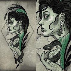 Tattoo Sketches, Tattoo Drawings, Art Sketches, Art Drawings, Neo Traditional Art, Traditional Tattoo Design, Traditional Tattoos, American Traditional, Neo Tattoo