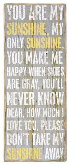 You are my sunshine!  #nsale