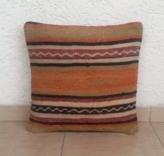 STRIPED Turkish Kilim Pillow Cover Bohemian Style by pillowsstore, $39.00