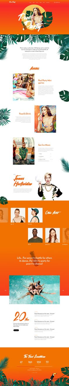 Pool Party - Landing Page For Pool Event - BeauPress