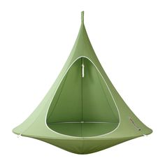 Escape to your own safe haven in this leaf green colour double Cacoon from Hang-In-Out. Crafted from a durable blend of cotton and polyester, this mould, water & UV resistant item is protected from...