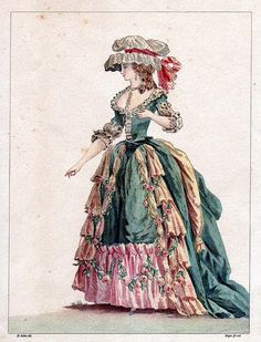 18th century fashion plate - 1780s by Lydia, via Flickr