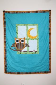 To Owl a Good Night Quilt by Coo4You on Etsy, $65.00
