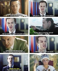 """Moriarty-my personal favorite is...""""I gave you my number. Thought you might call""""."""
