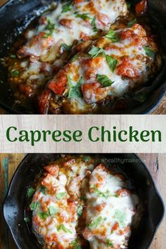 Roasted Caprese Chicken - Healthy Foods - All Foods Fit! Pollo Caprese, Baked Caprese Chicken, Healthy Baked Chicken, Baked Chicken Recipes, Chicken Tenderloin Recipes Healthy, Healthy Baking, Healthy Recipes, Healthy Foods, Fit Foods