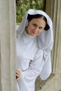Princess Leia cosplay.  Costume by Rebel Princess Cosplay & Costuming.  Image by Artasyougo. 2013