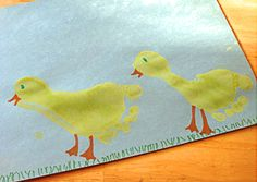 Molly Moo – a mums blog devoted to children's crafts & activities foot print ducks