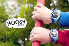 moosh -- watch/outdoor play motivator/social networking for kids... watches have come a long way since the 80s!