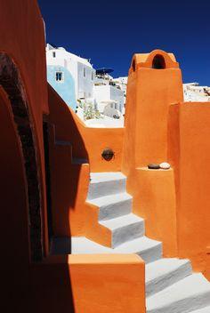 Colours of Oia, Santorini island, Greece
