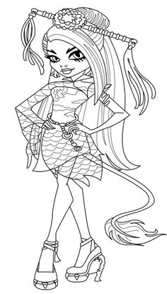 Monster High From China Coloring Pages - Monster High cartoon coloring pages
