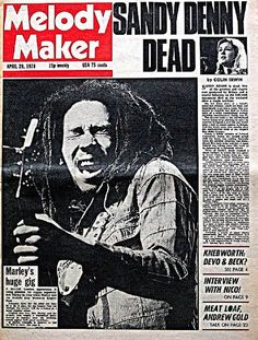 Bob was featured on the cover of the now-defunct British music magazine, Melody Maker, 36 years ago today! #TodayInBobsLife