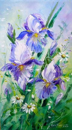 "Photo from album ""Viola Sado"" on Yandex. Art And Illustration, Art Floral, Texture Art, Texture Painting, Spring Art, Abstract Flowers, Art Oil, Flower Art, Watercolor Paintings"