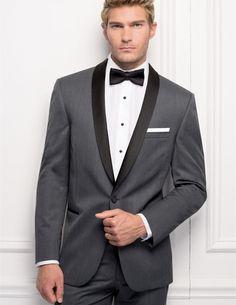 bespoke suit groom tuxedo gray custom made suits men shiny black collar slim fit men suit 2016