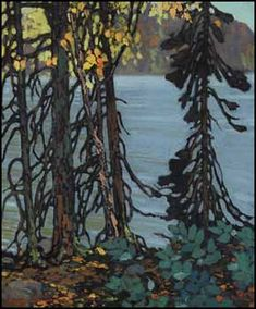 Frank Hans (Franz) Johnston, Canadian Autumn Tangle, c. oil on canvas, 24 x 20 in x private collection, Ontario. Member of The Group of Seven Emily Carr, Group Of Seven Artists, Group Of Seven Paintings, Canadian Painters, Canadian Artists, Abstract Landscape, Landscape Paintings, Small Paintings, Art Paintings