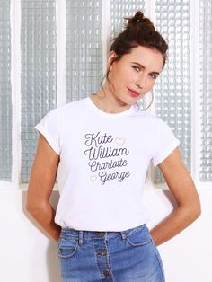 Le t-shirt Kate & William - Balzac Paris x émoi émoi EMOI EMOI - Photo