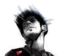 Portrait (sketch) by Iva Ivanova, via Behance