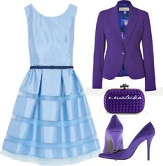"""""""Lady in blue and purple"""" by eva-malecka ❤ liked on Polyvore"""