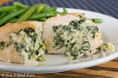 Spinach & Artichoke Stuffed Chicken Breasts Shared on http://www.facebook.com/LowCarbZen
