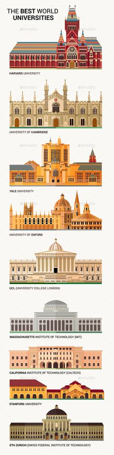 The Best World National Universities Icons.