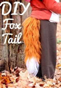 Brushed Yarn Fox Tail