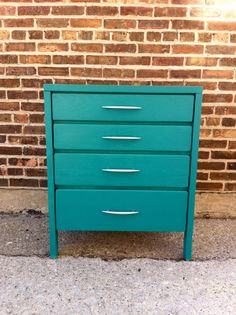 Vintage Petite Dresser In Teal    I need this for my bedroom right now.