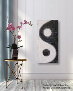 Yin-Yang; a rectangular interpretation/reminder of taijitu elements - Original Acrylbild