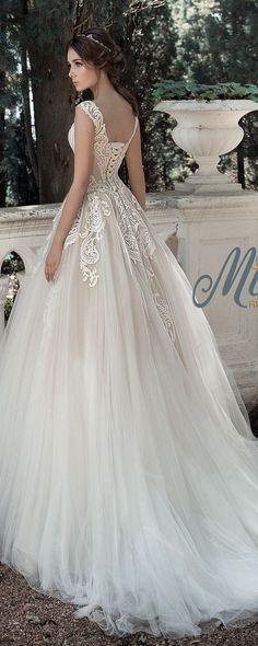 Milva Bridal Wedding Dresses 2017 Zahara / http://www.deerpearlflowers.com/milva-wedding-dresses/ #weddinggowns