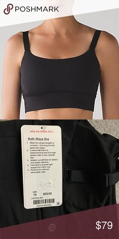 Lululemon Both Ways Bra NWT/10 BLACK Lululemon Both Ways Bra NWT/10 BLACK  ❌NO TRADES 🔴OFFERS SHOULD BE MADE THROUGH POSH OFFER FEATURE 🔴PRICES NOT DISCUSSED IN COMMENTS  🔴FEEL FREE TO ASK ANY QUESTIONS lululemon athletica Intimates & Sleepwear Bras
