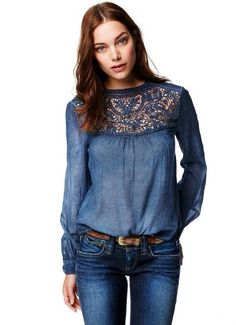 Denim lace and jeans