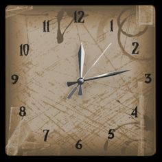 broken time wall clock from Zazzle