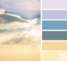 heavenly hues Color Palette by Design Seeds Colour Pallette, Colour Schemes, Color Combos, Ideas Prácticas, Cool Ideas, Design Seeds, World Of Color, Color Swatches, Color Stories